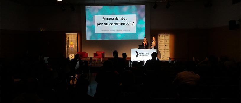 Photo de la conférence par le GDG Nantes