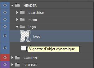 Un objet dynamique est matérialisé par une petite vignette reconnaissable.