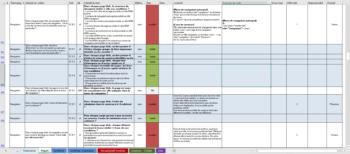 Exemple de grille d'audit Excel - Description détaillée ci-après